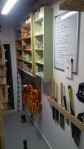 whiteboard and shelves